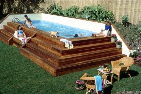 sehr coole Art, um eine oberirdische Pool tun.