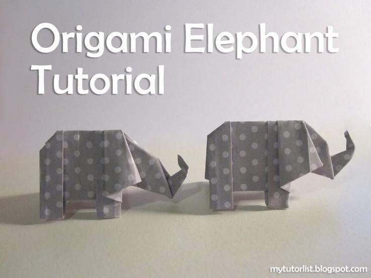 Origami Elephant Tutorial : Behind Mytutorlist.com