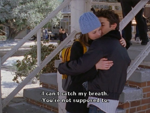 Aww Rory and Jess #GilmoreGirls the best thing you could ever say :)