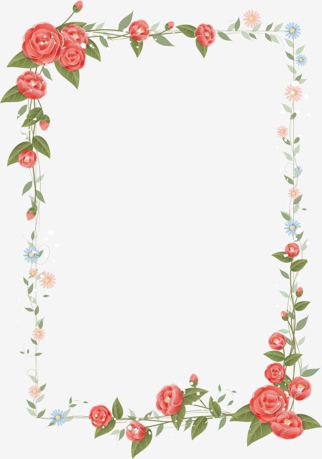 Frame Flower Frame Flower Border Flowers Retro Gfloral Border Floral