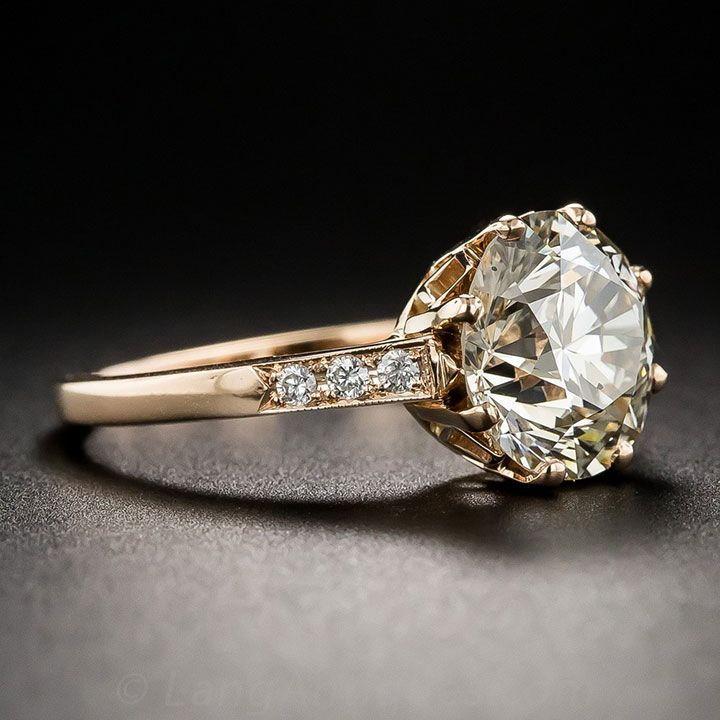 3.36 carat European cut diamond in rose gold ~ we ❤ this! moncheribridals.com