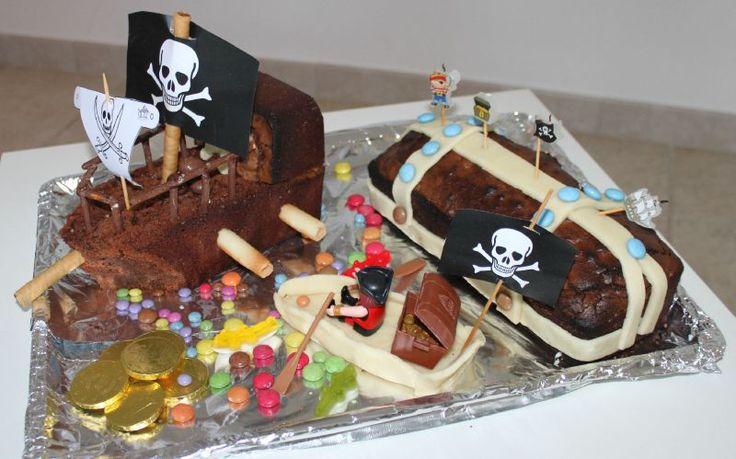 gateau bateau et coffre pirate