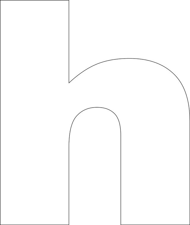 h and p template - free printable lower case alphabet template home
