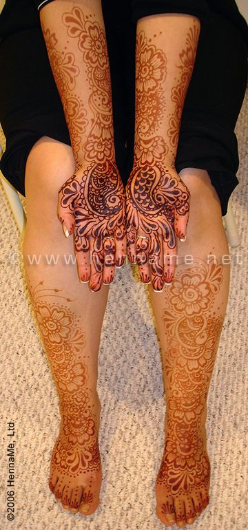 Mehndi Henna Care : How to care for henna tattoos mehndi