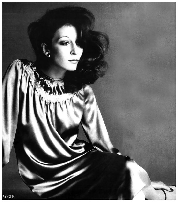 Anjelica Huston. Vogue. Foto de Richard Avedon. 1974.