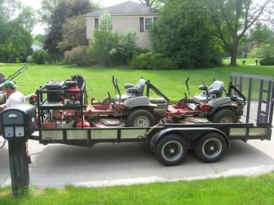 Lawn Service. Lawn Care and Snow Removal Small Business. Trailer ...