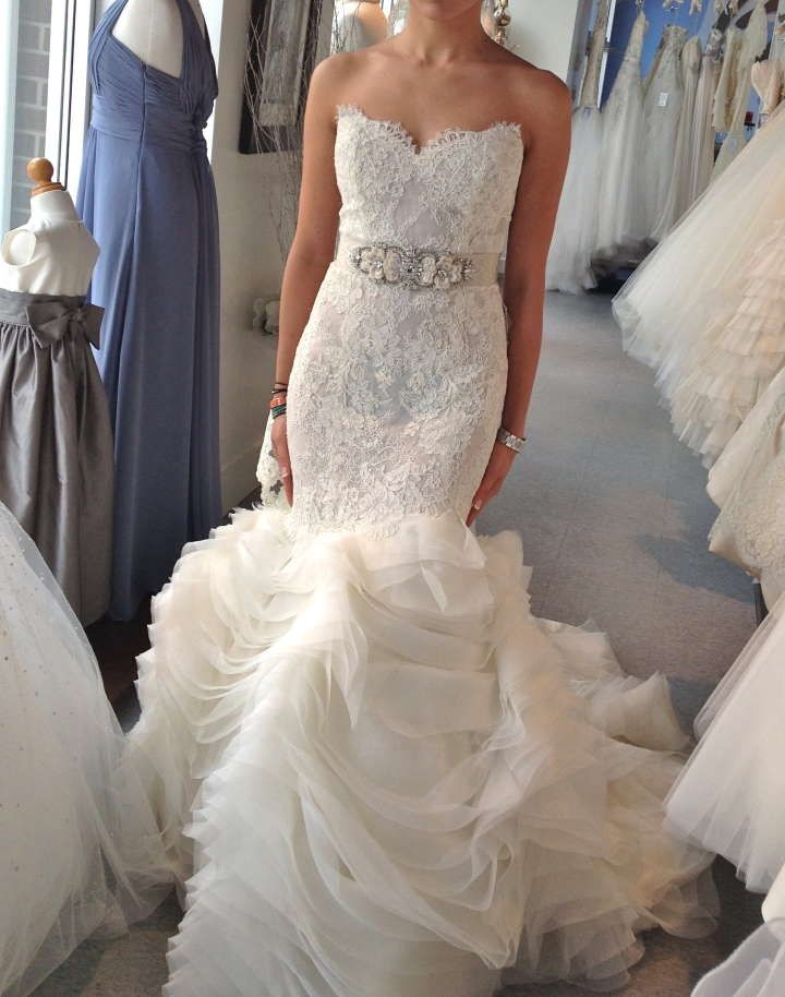 lazaro style 3201 wedding dress 35 off tradesy weddings