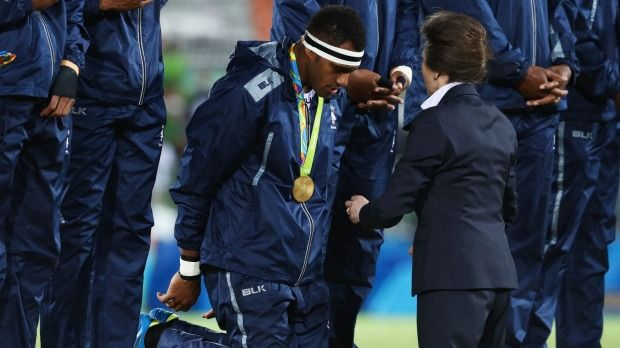 Fiji's sevens kings showed Princess Anne a unique act of respect never seen at an Olympic Games.