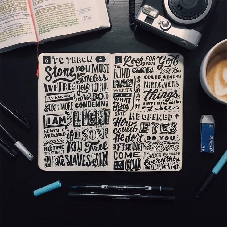 "T Y P O x P H O T O på Instagram: ""Day 91/100 John chapter 8 + 9 The 4 Gospels are almost done  #100daycreativechallenge"""