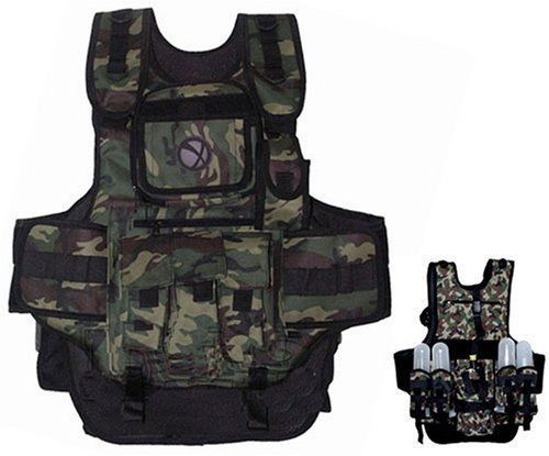 Vests 36284: Gxg Army Swat Paintball Airsoft Tactical Vest Camo BUY IT NOW ONLY: $50.13
