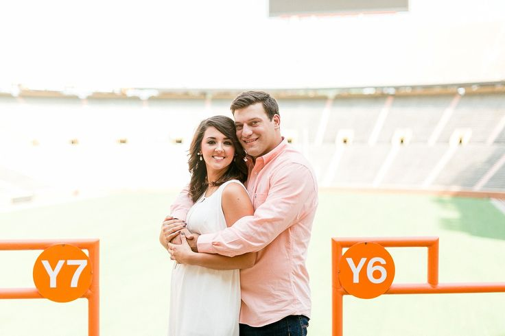 Engagement session for Vols fans - at Neyland Stadium!    Neyland Stadium Engagement Session by Matthew Davidson Photography | Bride Link