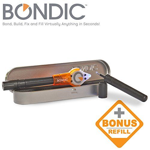 Bondic, Repair Anything! Better Than Glue! Waterproof, Heat Resistant, 100% Non Toxic And Made In The USA! Up To 100 Fixes! The World's First Liquid Plastic Welder! Bond, Build, Fix And Fill Anything In Seconds! (Bondic Starter Kit) Bondic