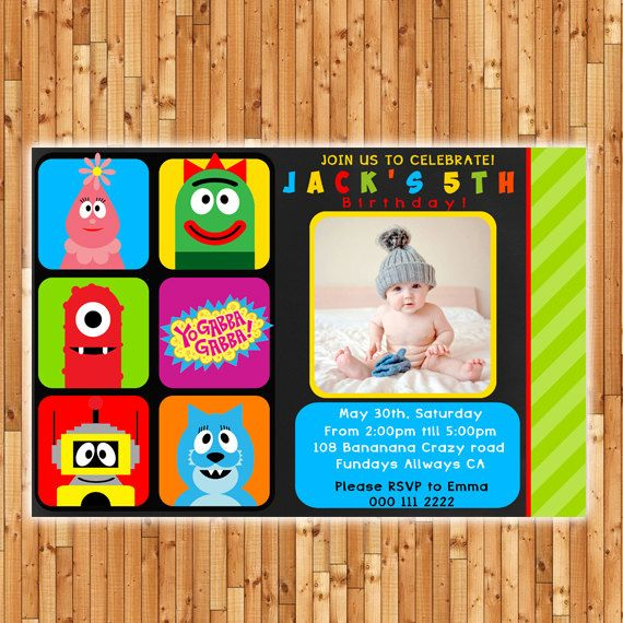 121 best yo gabba gabba images on pinterest | yo gabba gabba, Wedding invitations