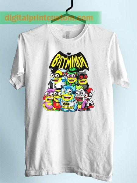 Funny Batman Minion Collage Unisex Adult Tshirt
