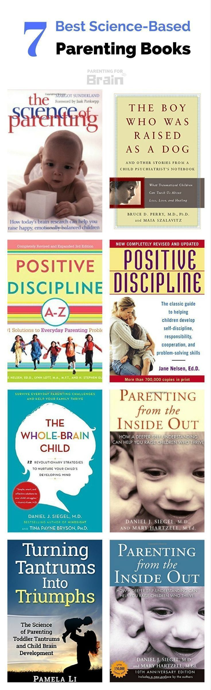 Best Science-Based Parenting Books #Parenting #ParentingBooks #parentingforbrain