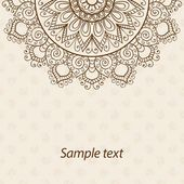 Karte oder Einladung. Mandala. Alte dekorative Elemente. Handgezeichnete Hintergrund. Islam, Arabisch, Indisch, osmanische Motive — Stockvektor #77496376