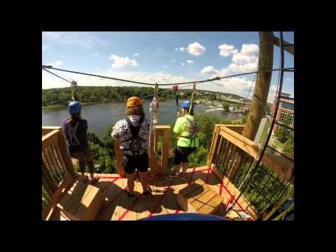 Blue Heron Zipline - Chattahoochee River Whitewater | Columbus, GA | Phenix City, AL - YouTube