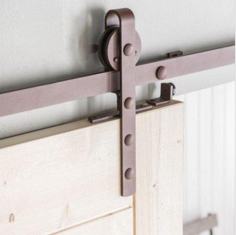 14 best office ideas images on Pinterest Sliding doors, Barn doors - fixation rail porte coulissante