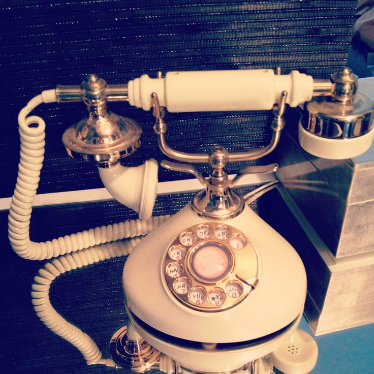 Vintage white gold telephone.                                                                                                                                                                                 More