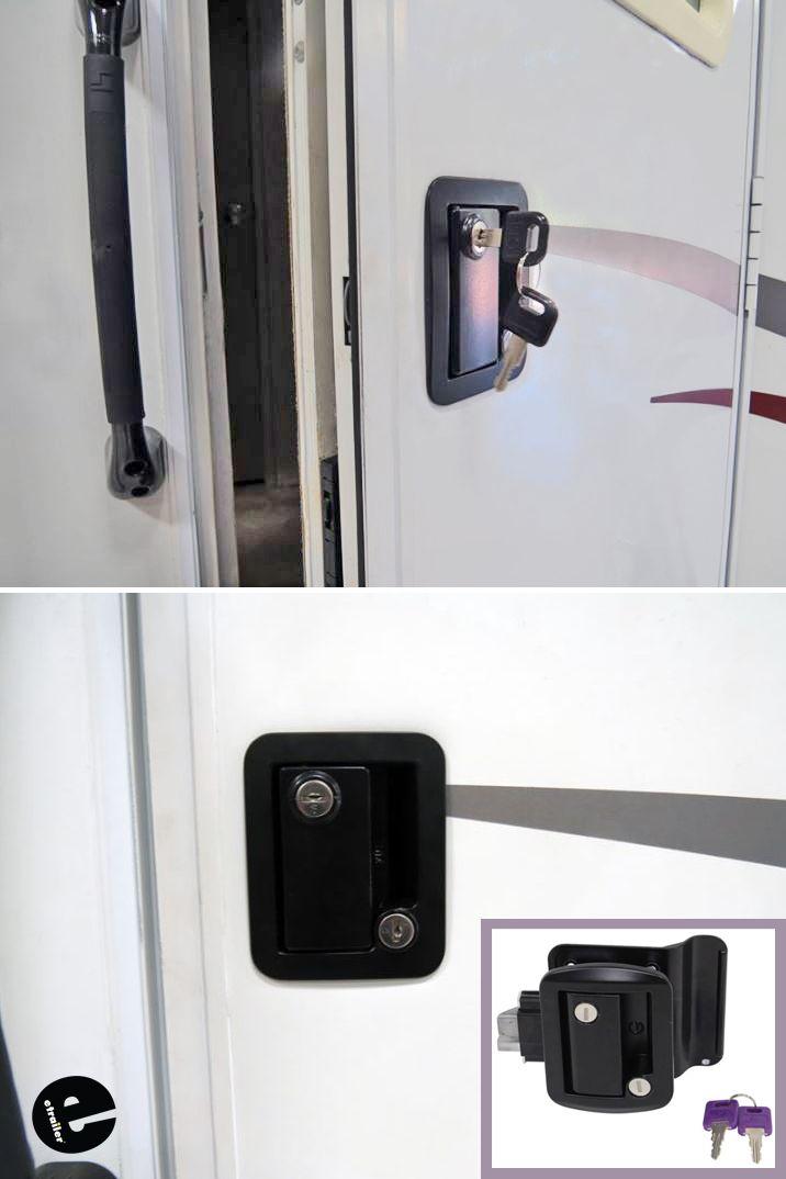 Global Link Rv Entry Door Locking Latch Kit With Keyed Alike Option Black Global Link Rv Locks 295 Entry Doors Rv Rv Exterior