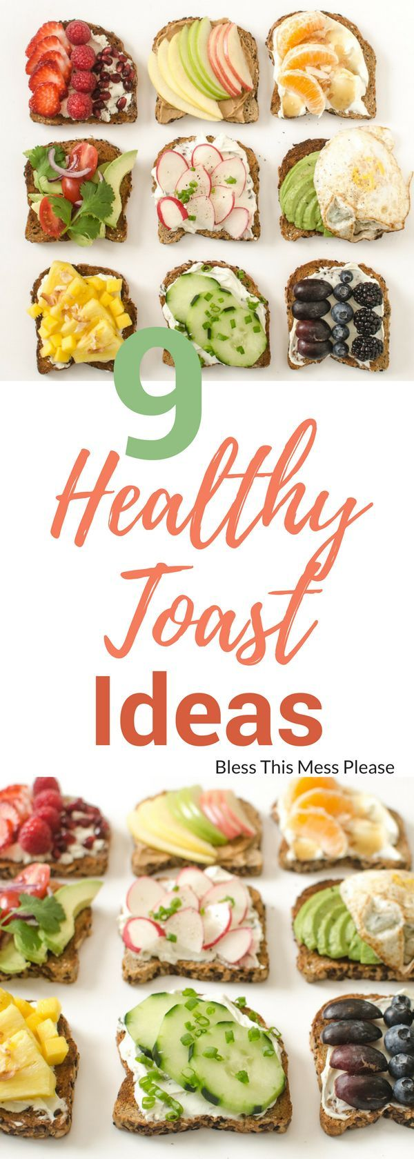 9 Healthy Toast Ideas ~ 9 sweet and savory healthy toast ideas that are simple, colorful, and filling enough to make into a meal! Which one will you try first?