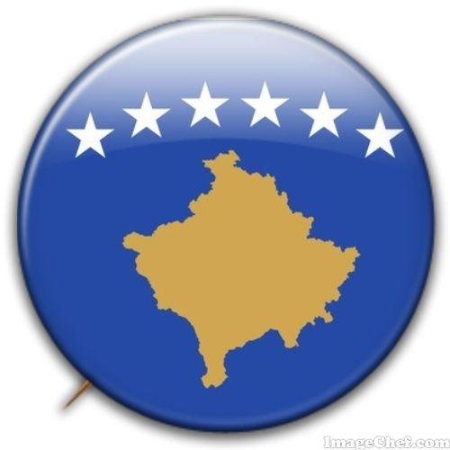 Kosovo flag badge