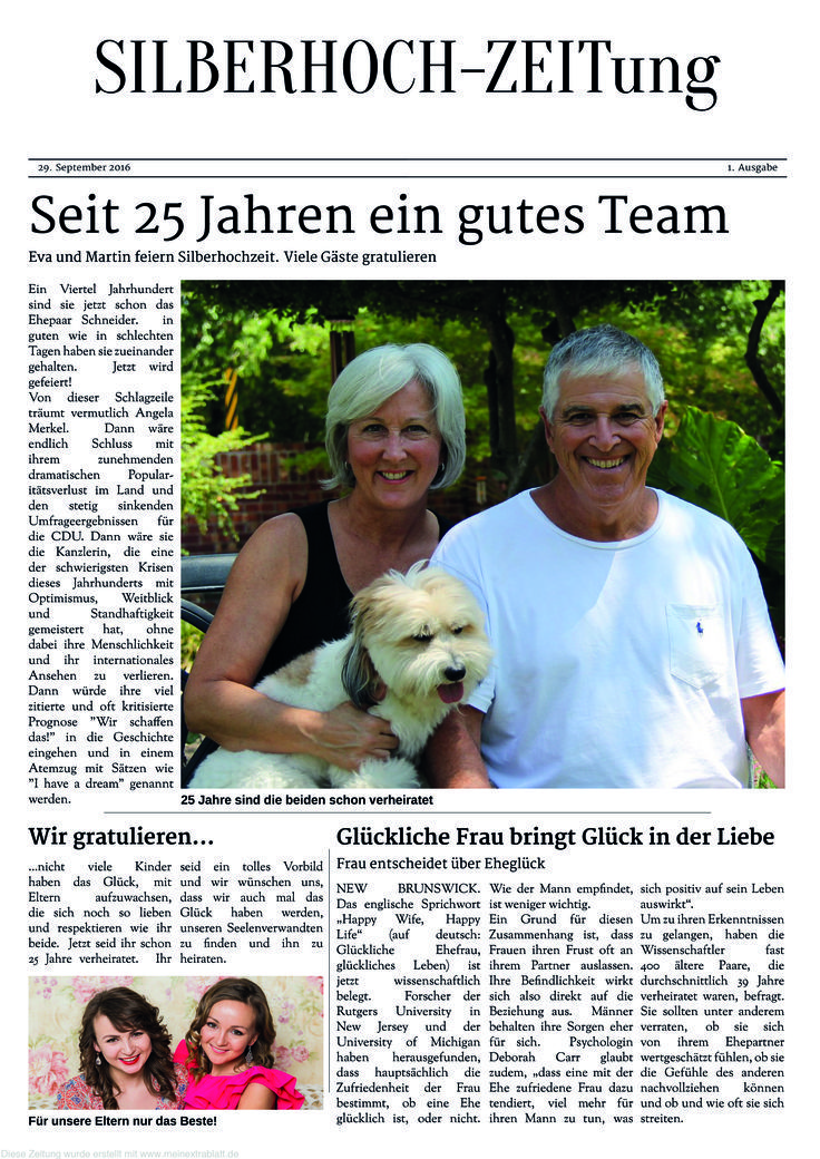 Newspaper For The Silver Wedding Content Ideas Templates Remember In A Time Goldene Hochzeit Silberhochzeit Silberhochzeit Geschenk Silberne Hochzeit