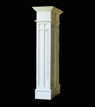 Double or single craftsman column fireplace pinterest for Craftsman columns