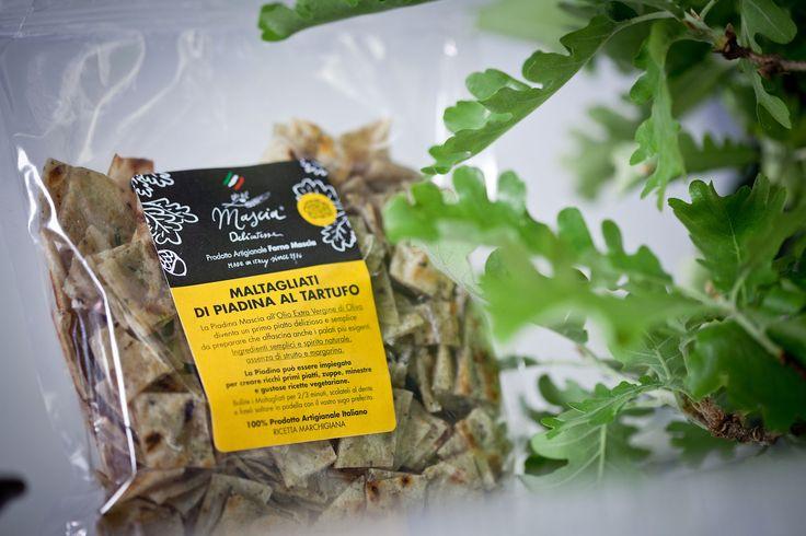 #maltagliati di #piadina al #tartufo #masciadelicatezze made with extra virgin olive oil