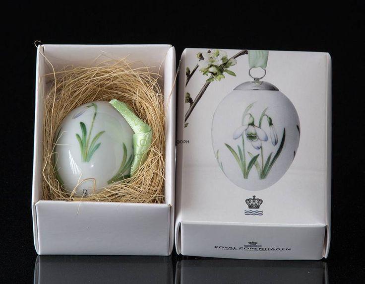 Easter egg with snowdrop, Royal Copenhagen Easter Egg 2016