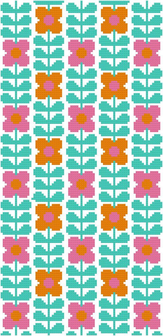 Cross Stitch Pattern, 'Wallflower' PDF