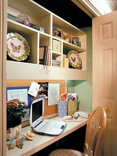 Best 25 converted closet ideas on pinterest closet nook for Convert kitchen desk to pantry