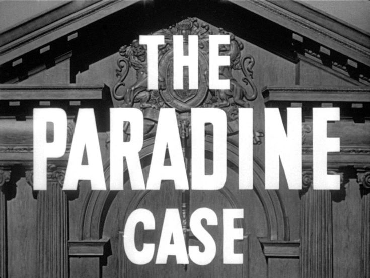 The Paradine Case Blu-ray - Gregory Peck