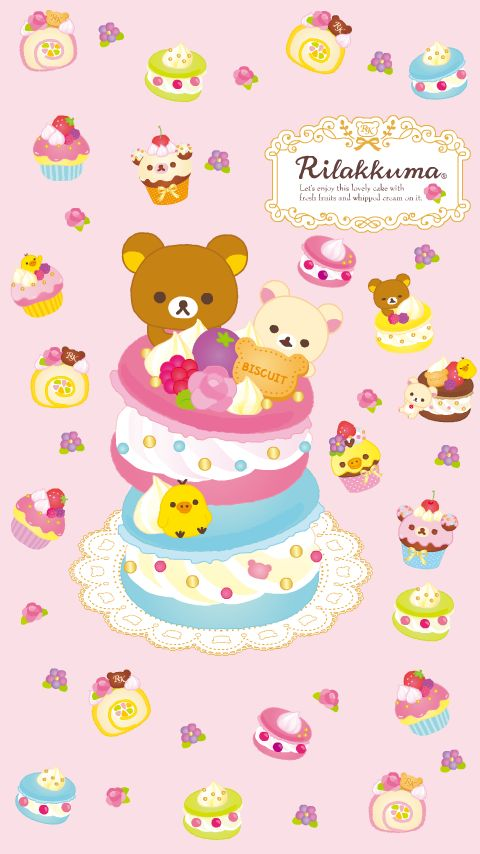 Korilakkuma Strawberry-Bunny Series Phone Wallpaper ? 640x1136 ...