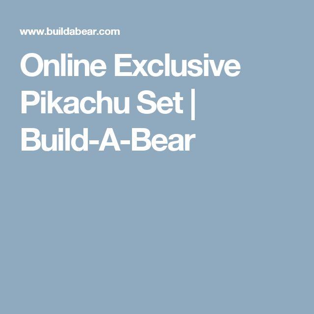 Online Exclusive Pikachu Set | Build-A-Bear