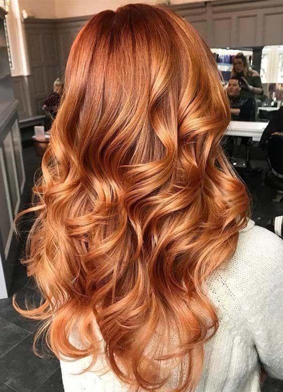 helle dreidimensionale Haarfarbe #redhair #dreidim…