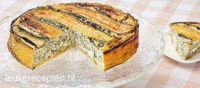 Courgettetaart met spinazie recept - Taart - Eten Gerechten - Recepten Vandaag