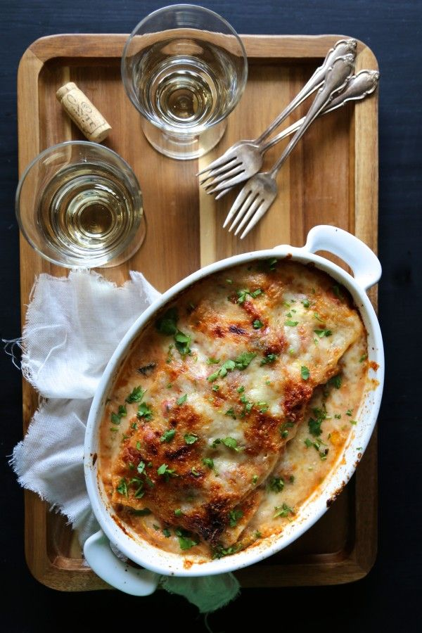 Easy Burrata & Summer Squash Lasagna with Muir Glen Fire-Roasted Tomatoes - Climbing Grier Mountain