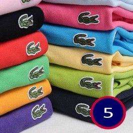 A Lot of 5 Men Polo Shirts Short Sleeve, Mix Order The Colors or Size