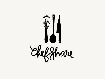 ChefShare / by Jennifer Wick; I like the look this company is going for. The utensils and type match the vibe.