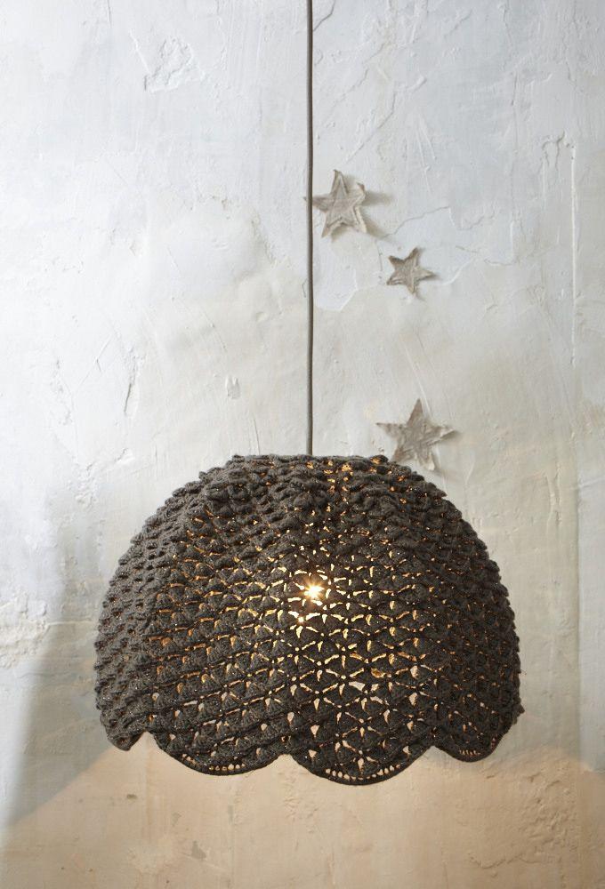 tr s grande suspension taupe fonc by les petits bohemes luminaires pinterest. Black Bedroom Furniture Sets. Home Design Ideas