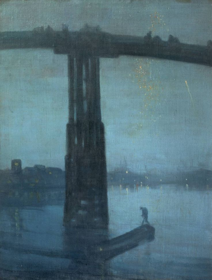 Nocturne: Blue and Gold - Old Battersea Bridge. James Abbot McNeill Whistler.