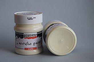 Farby-laky - Matná akrylová farba, slonová kosť, 230 ml - 4443736_