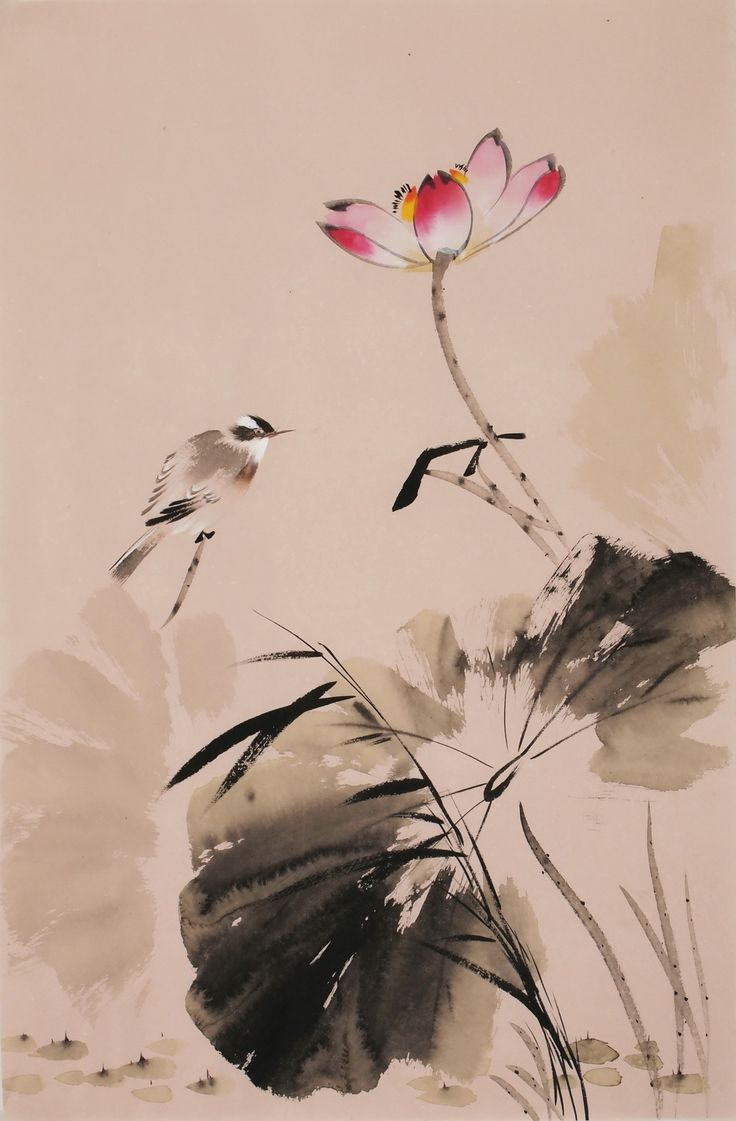 Chinese Lotus Paintings