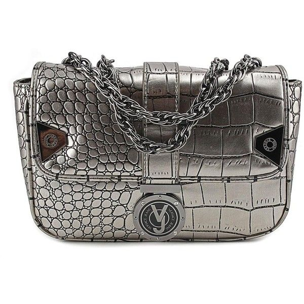Versace Jeans Couture Versace Jeans Couture E1vmbbg2 Women Synthetic... ($176) ❤ liked on Polyvore featuring bags, handbags, clutches, grey, imitation handbags, faux-leather handbags, grey clutches, grey handbags and versace jeans couture