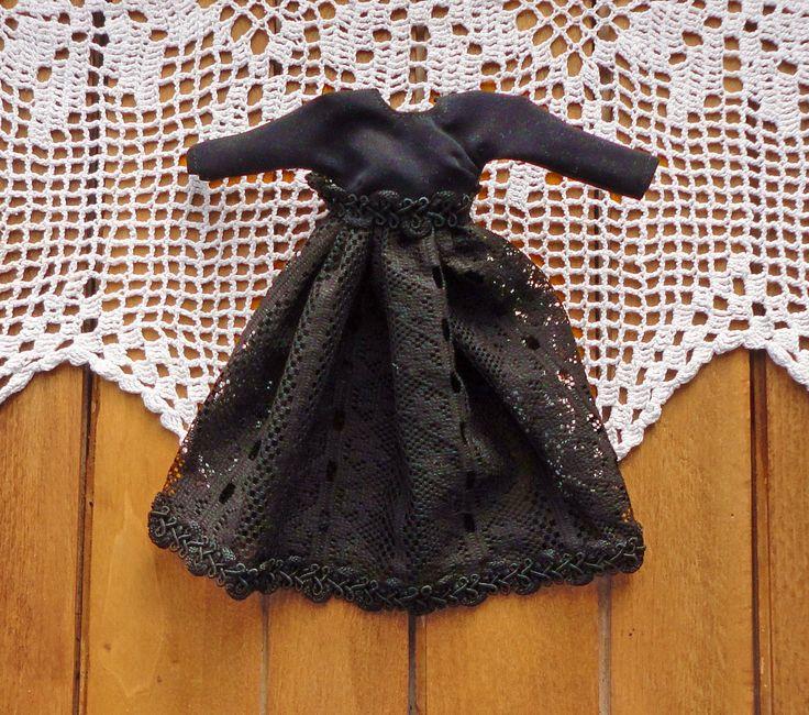 Black lace dress for Monster high Черное кружевное платье для Монстр хай #одеждамонстрхай #монстрхай #кукольнаяодежда #платьемонстрхай #dressdoll #clothdolls #EvaiDolls @evaidolls