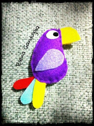 Pappagallo pannolenci parrot felt
