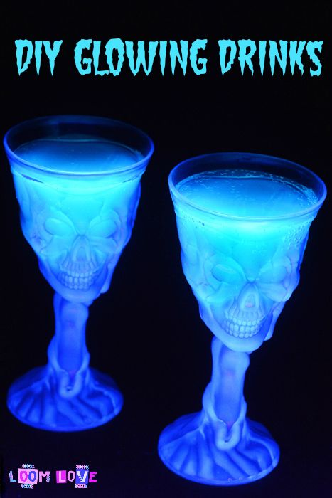 How to Make Ghoulish Glowing Drinks