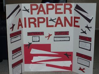 paper airplane science experiment | shurtleff-fam: Cole's Science Fair Project