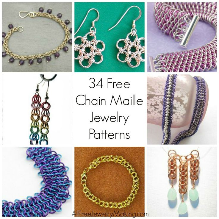 229 best our free jewelry projects images on pinterest jewelry 34 free chain maille jewelry patterns fandeluxe Images